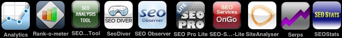 Logos SEO-Apps iPhone