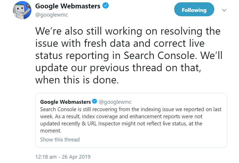 Google continues to work on the data problem