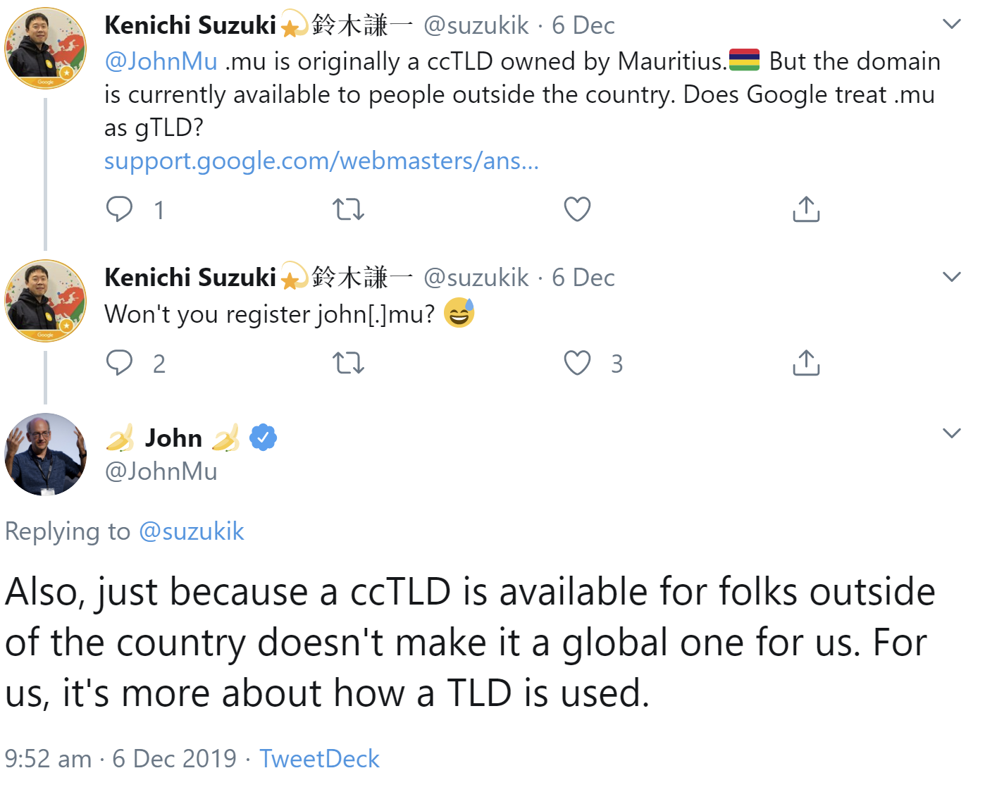 Google does not treat ccTLDs as gTLDs simply because they are available outside of their country