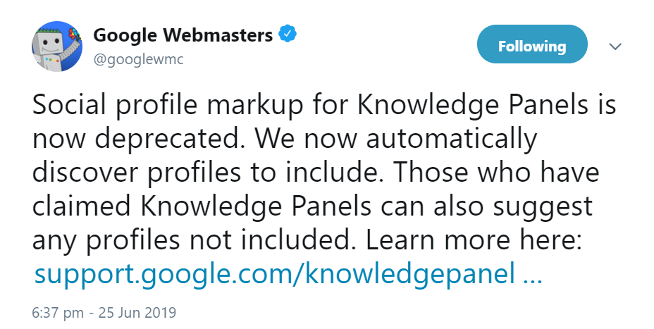Google now recognizes social profiles of Knowledge Panel without social branding