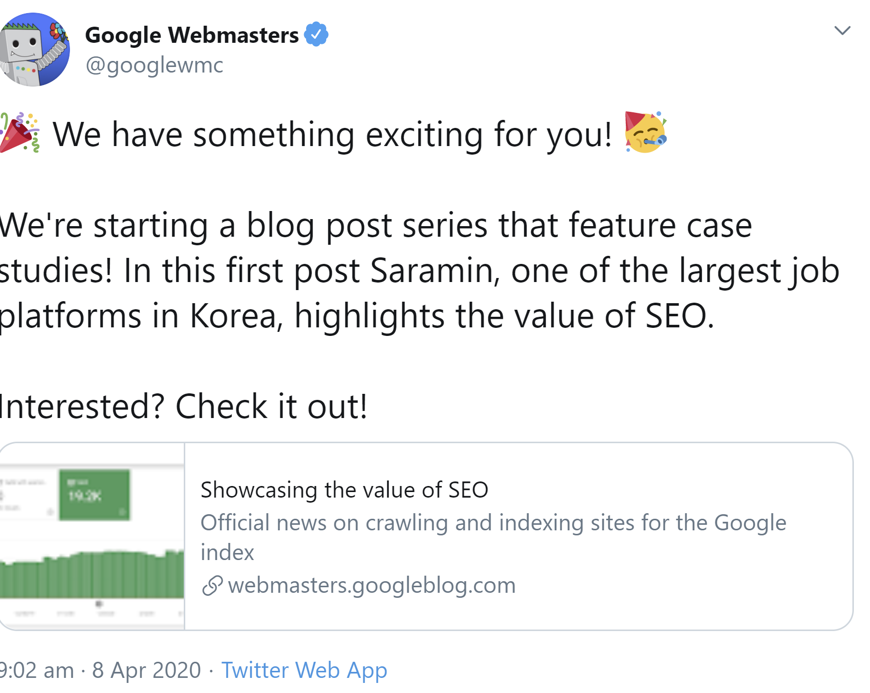 Google: New Blog Series With SEO Case Studies