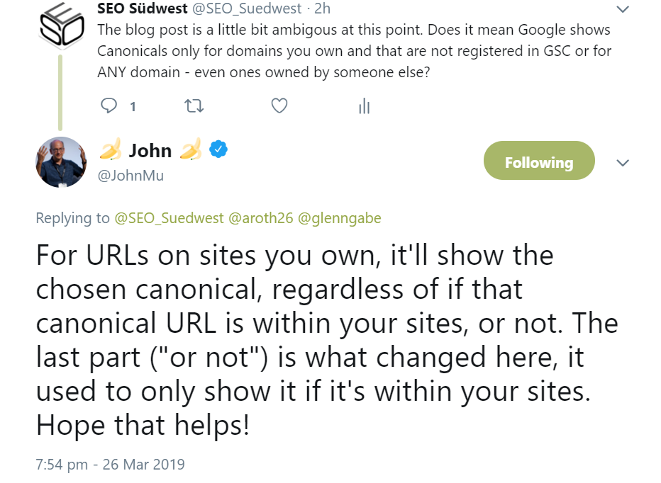 Google: Accuracy: even the URLs of third-party websites can now appear as Canonical in Search Console