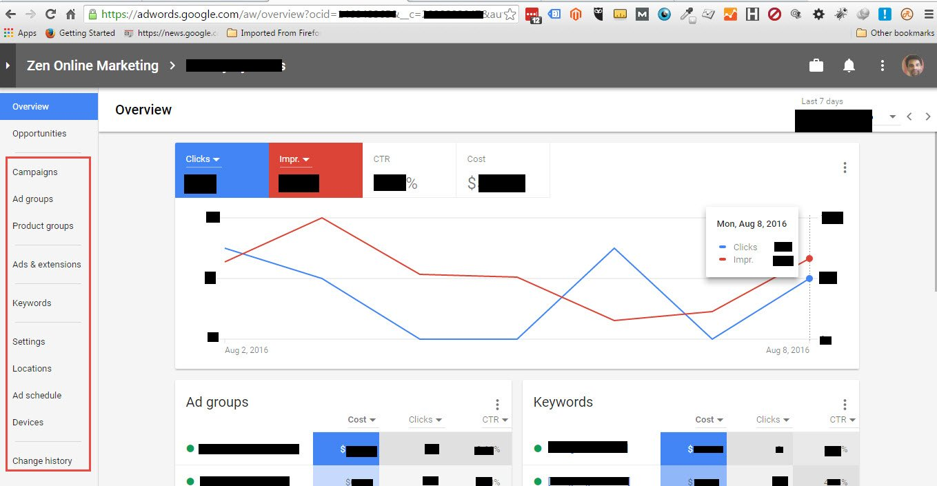 AdWords - neues Layout