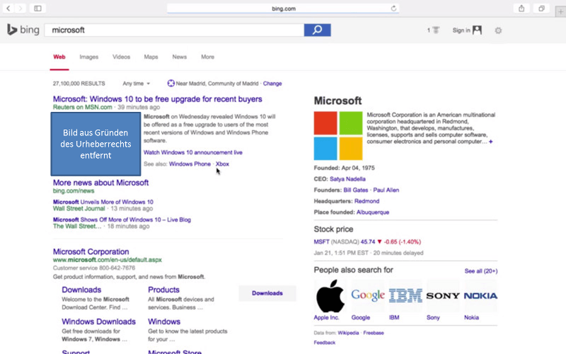 Bing testet neues SERP-Layout