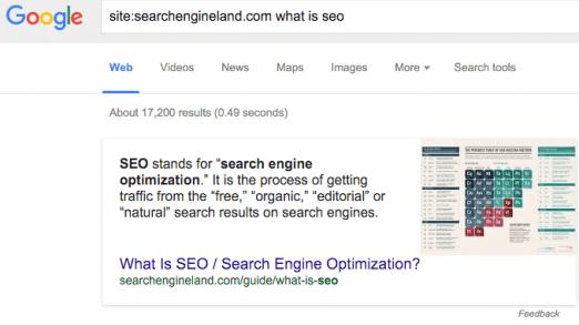 Google zeigt Featured Snippets für Suchen mit 'site:'-Operator - SEO