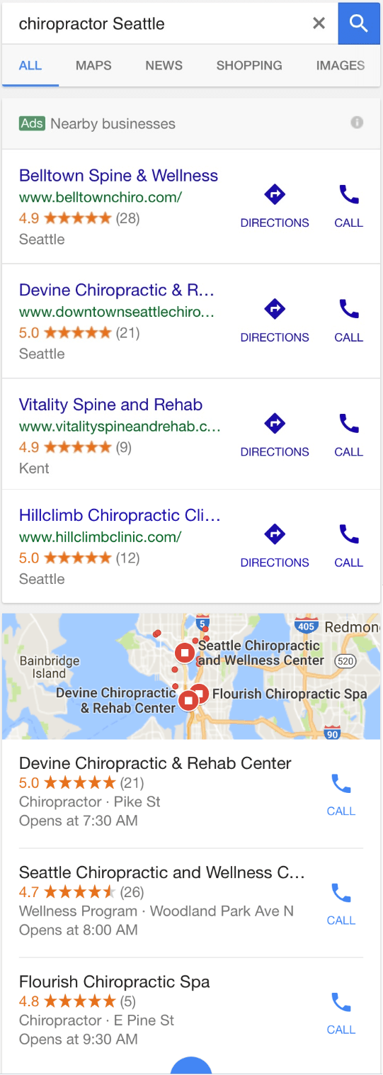 Google: Local Ads mit Local Pack