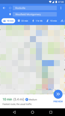 Google Maps: normale Parksituation