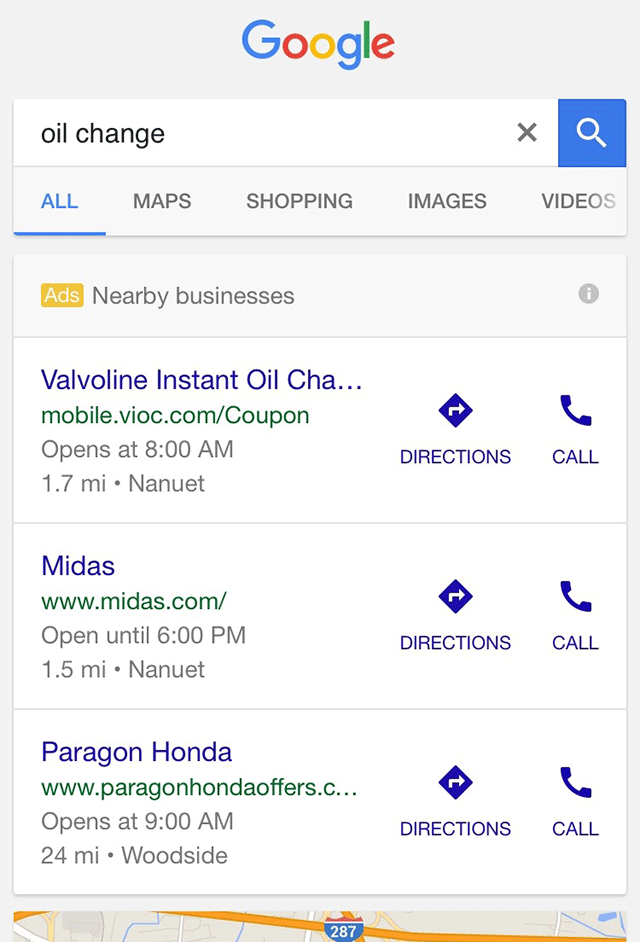 Google Nearby Ads