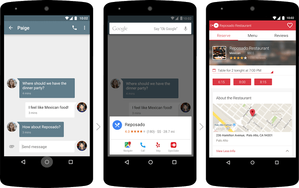 Google Now: Now on tap
