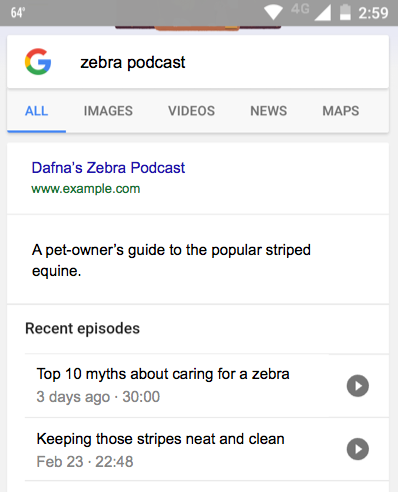 Google: Rich Snippets für Podcasts