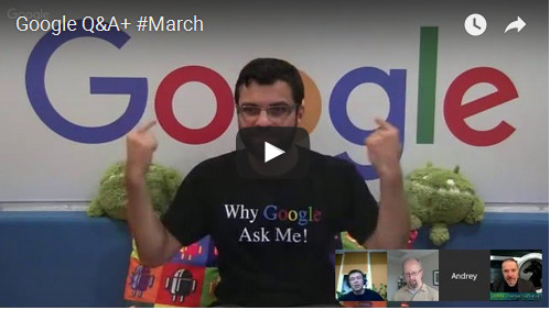 Google Q&A March 2016