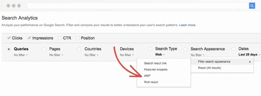 Google Search Console: Filter für Featured Snippets und Rich Results