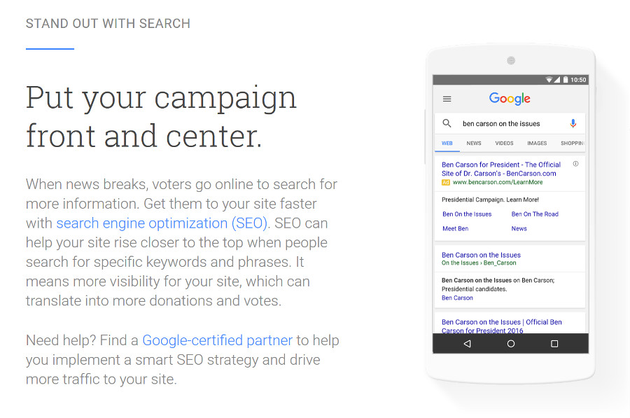 Google: Stand out with search