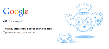 Google: I am a teapot