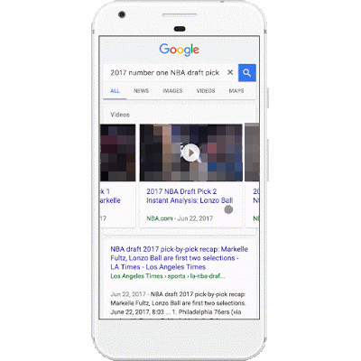 Google: Video-Preview in der mobilen Suche