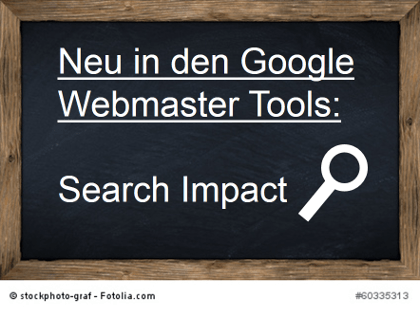 Google Search Impact Webmaster Tools