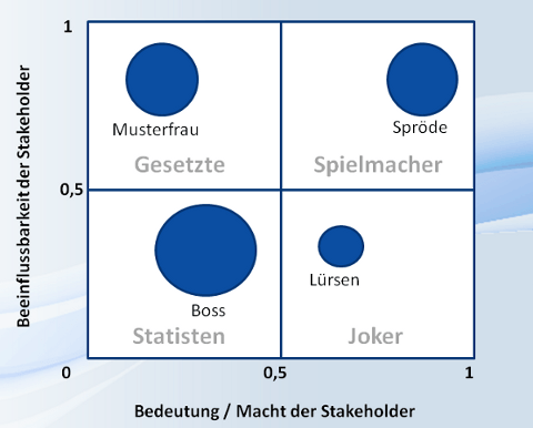 Stakeholdermanagement Blasendiagramm