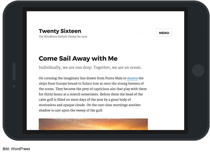 WordPress: Twenty Sixteen