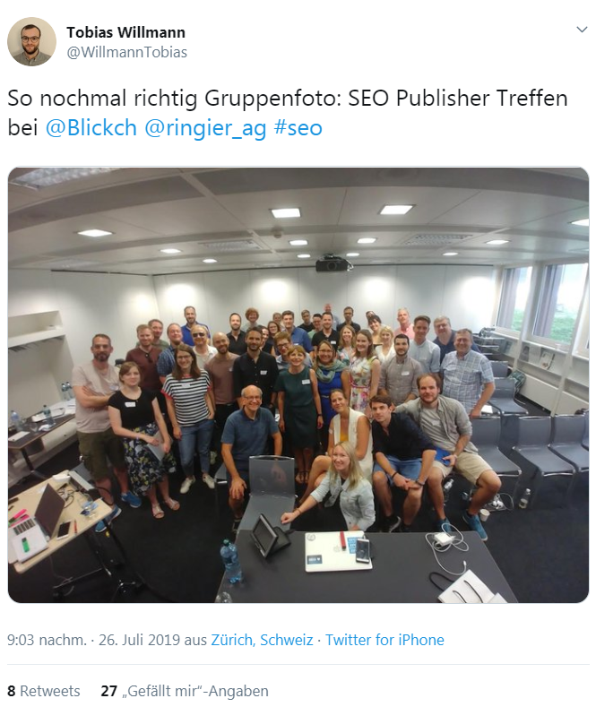SEO Publisher Summit 2019: Gruppenfoto
