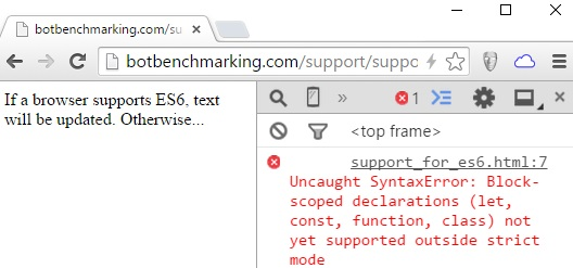 Syntax Error in Chrome 41-Konsole