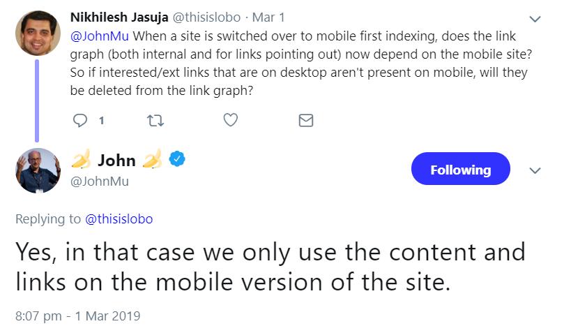 Google: Ausgehende Links können durch Mobile First verloren gehen