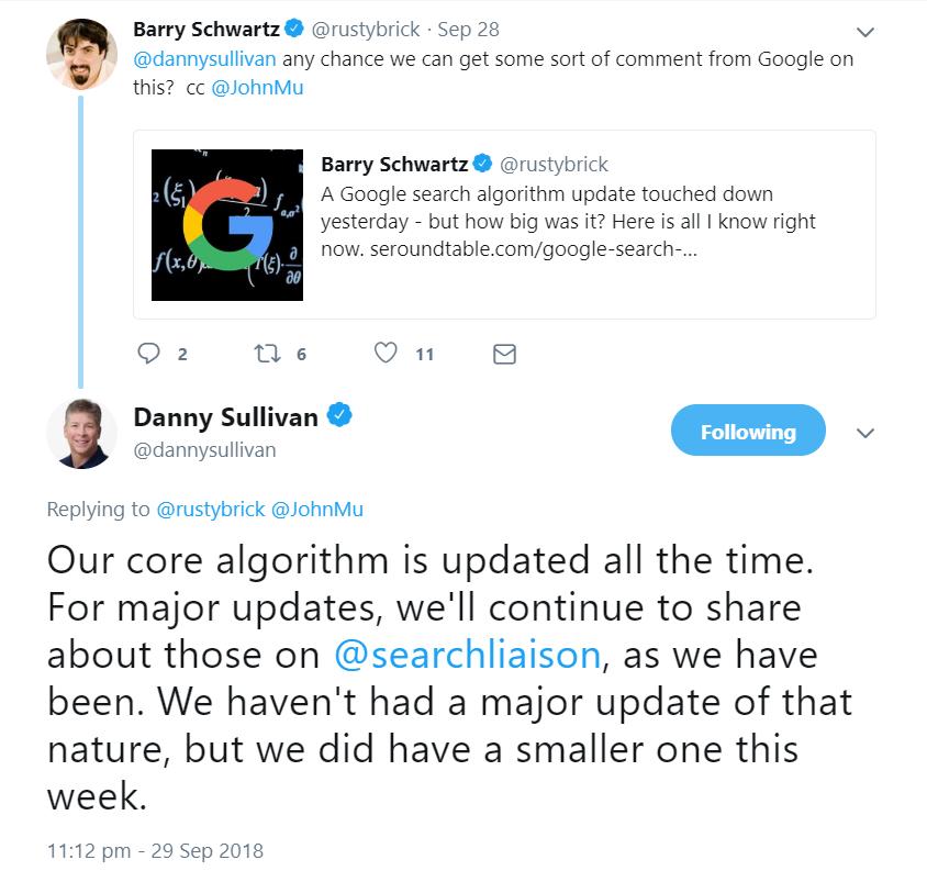 Google Bestätigt Update Von Dieser Woche