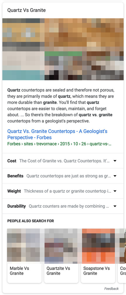 Google: erweiterbares Featured Snippet