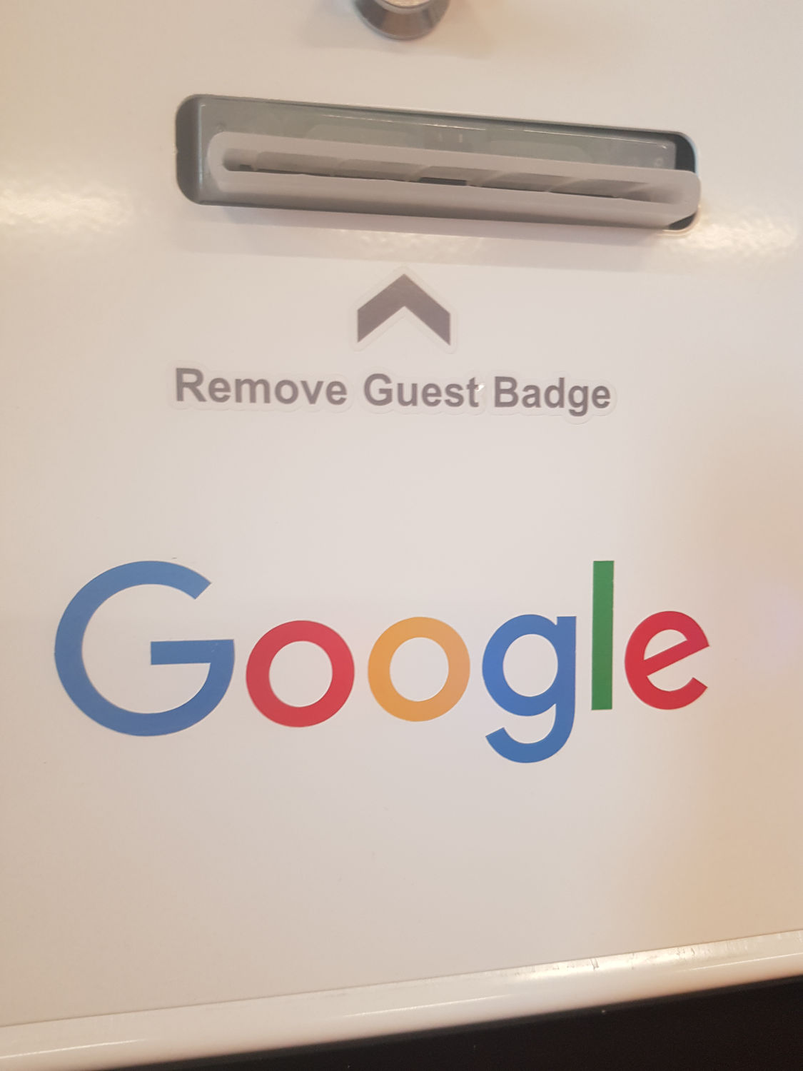 Google guest badge