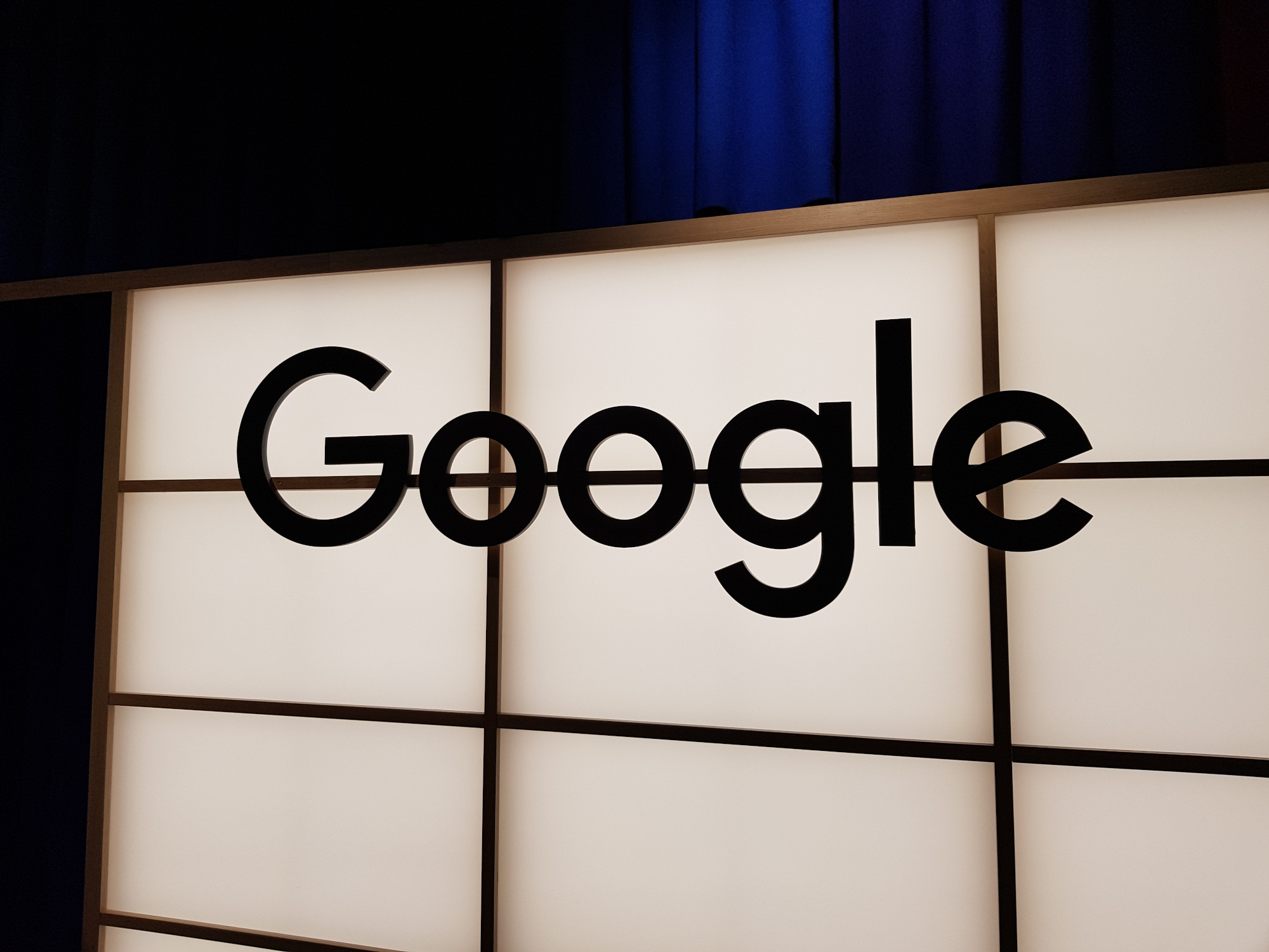 Google Wall of Light Zurich