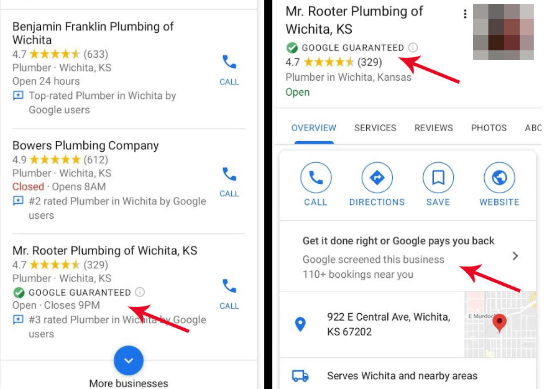 Google My Business: Einträge mit 'Google Guaranteed'-Labek