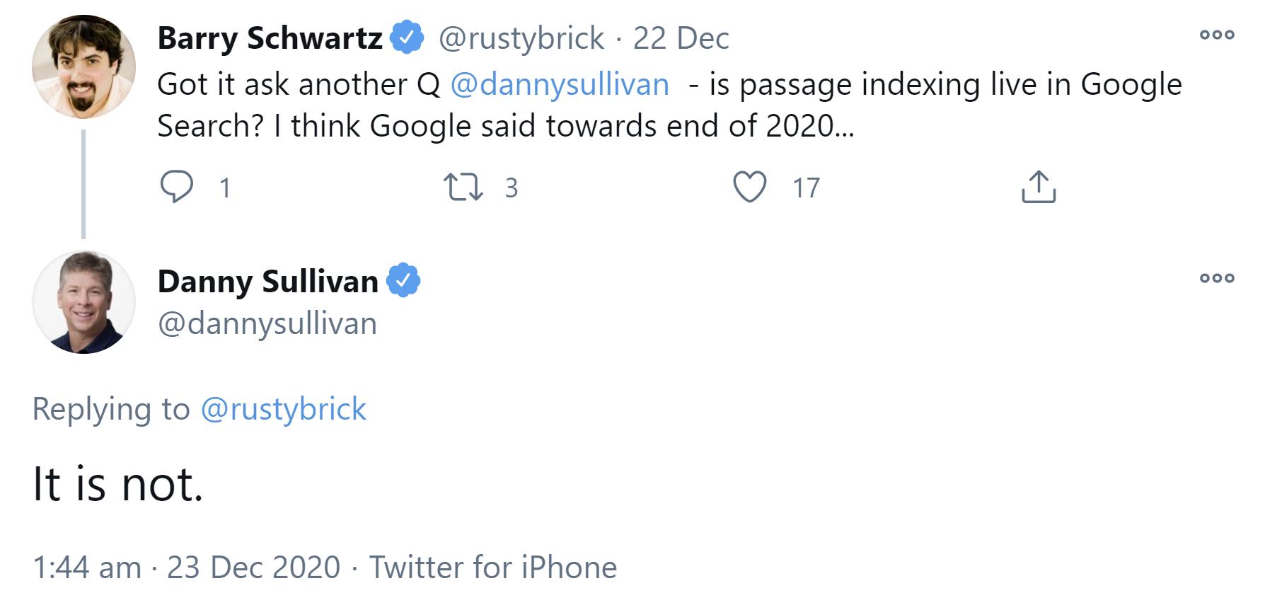 Google : l'indexation basée sur les passages n'est pas encore en ligne