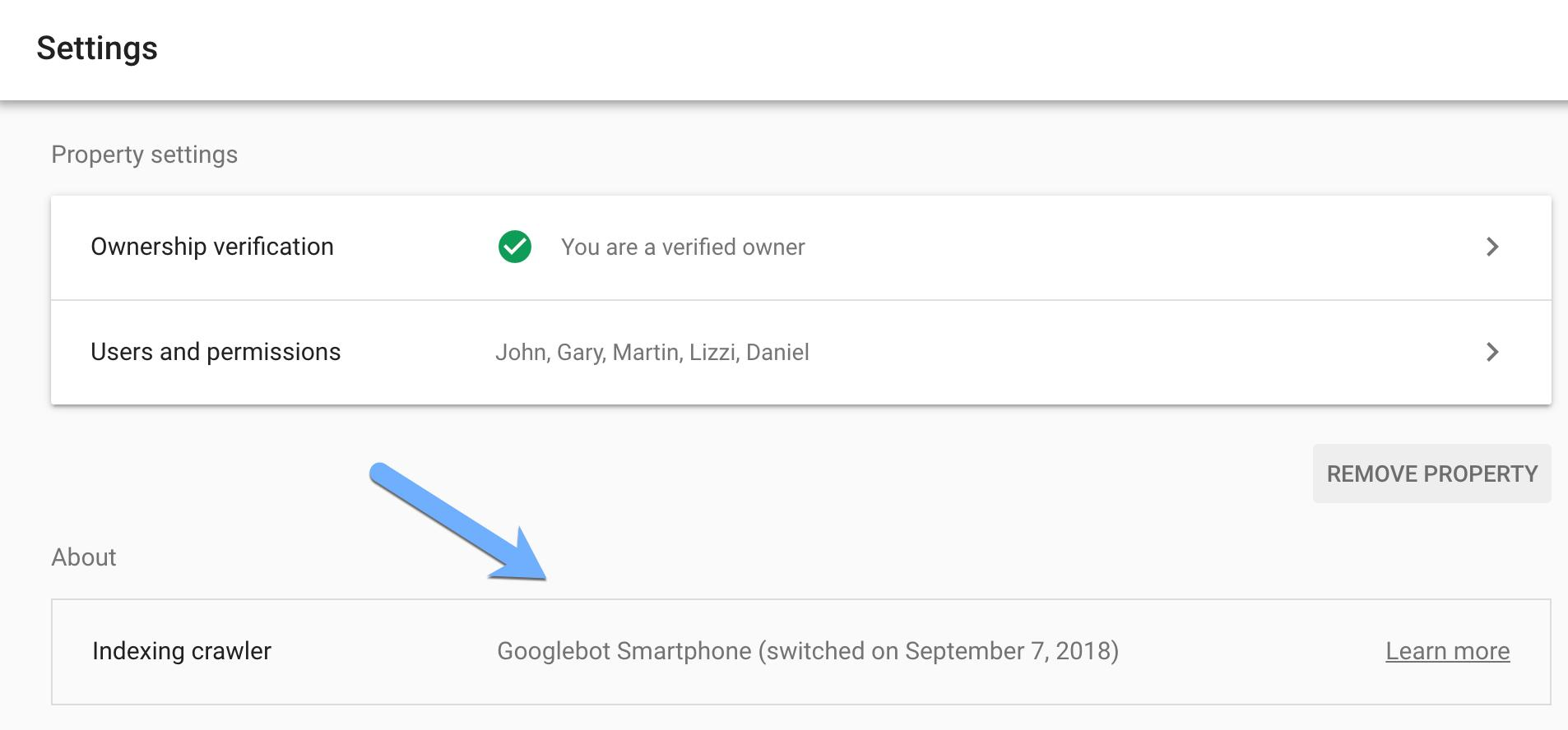 Google Search Console zeigt Umstellung auf Mobile First an
