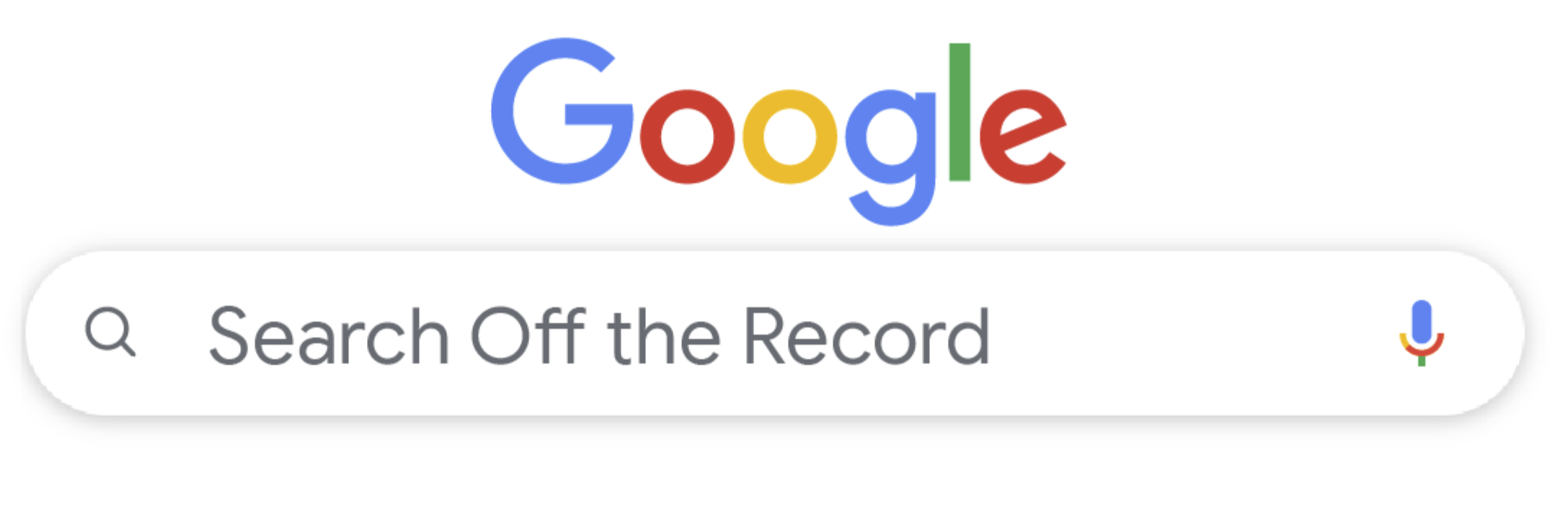 Google Search Off the Record