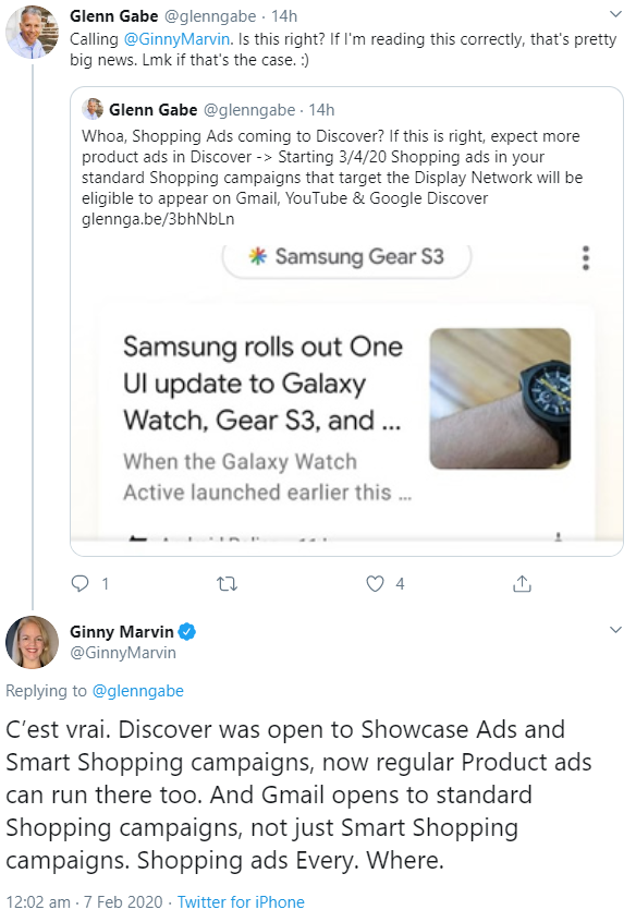 Shopping Ads auch bald in Google Discover