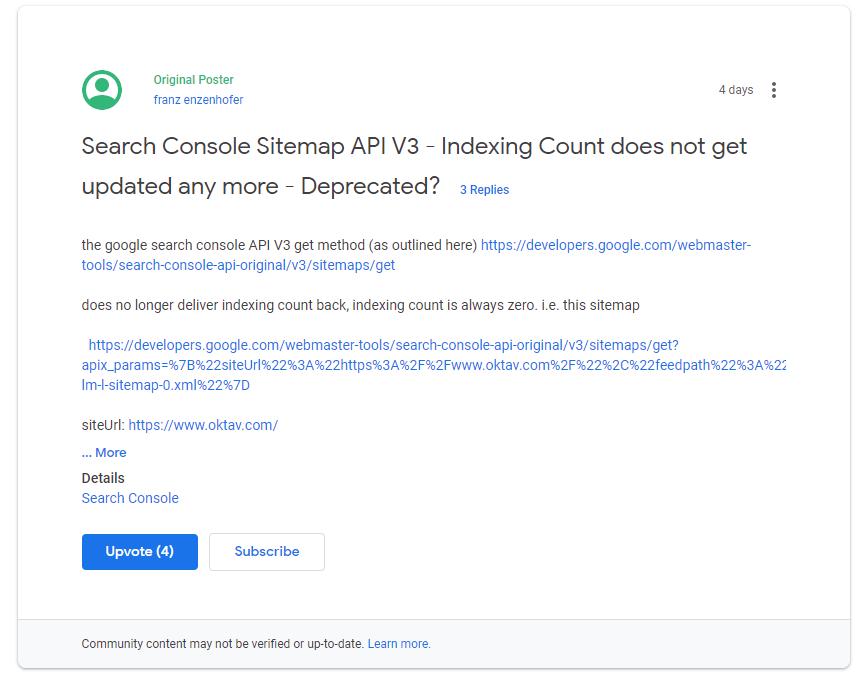 Google Search Console API Liefert Nicht Mehr Die Zahl
