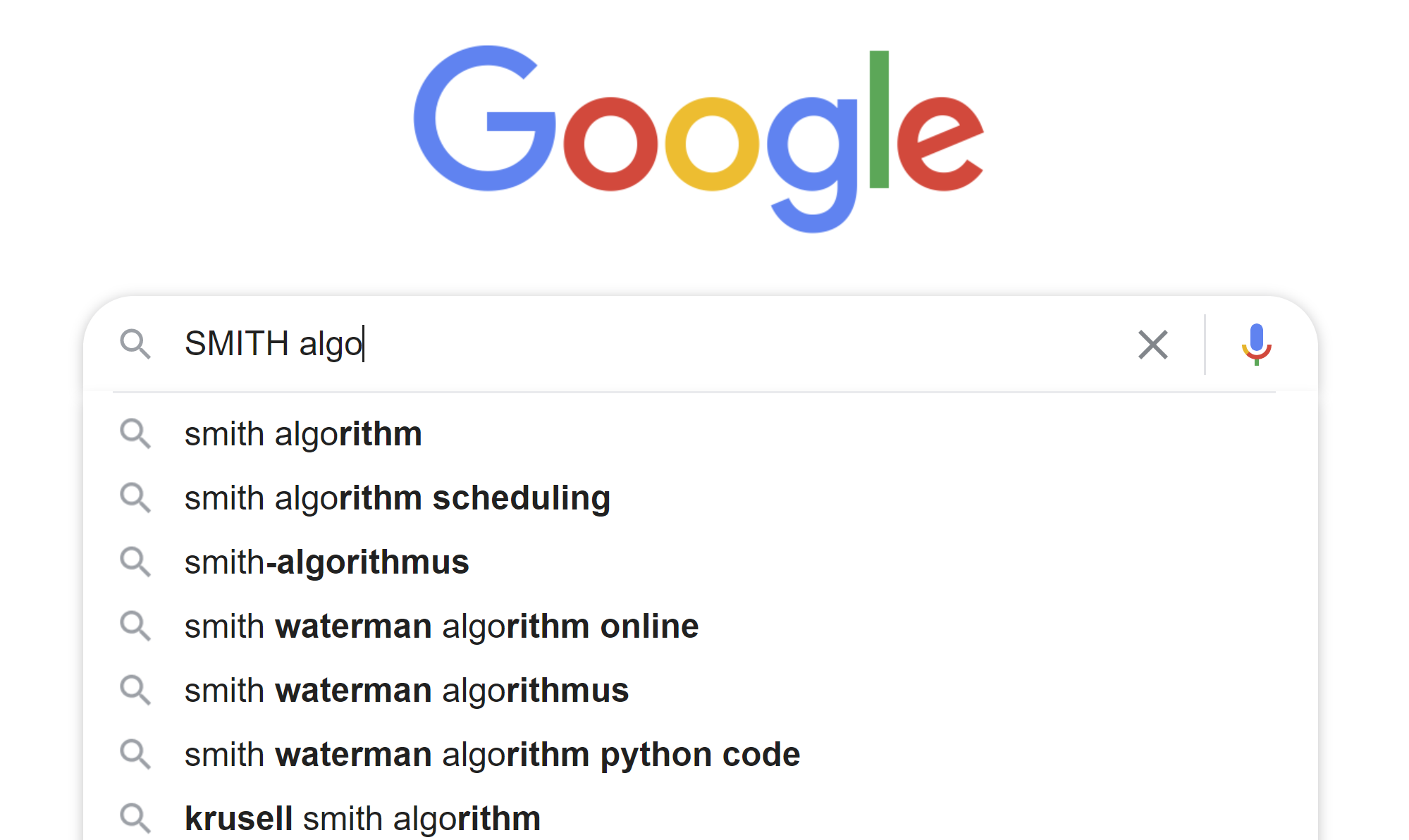 Google SMITH-Algorithms