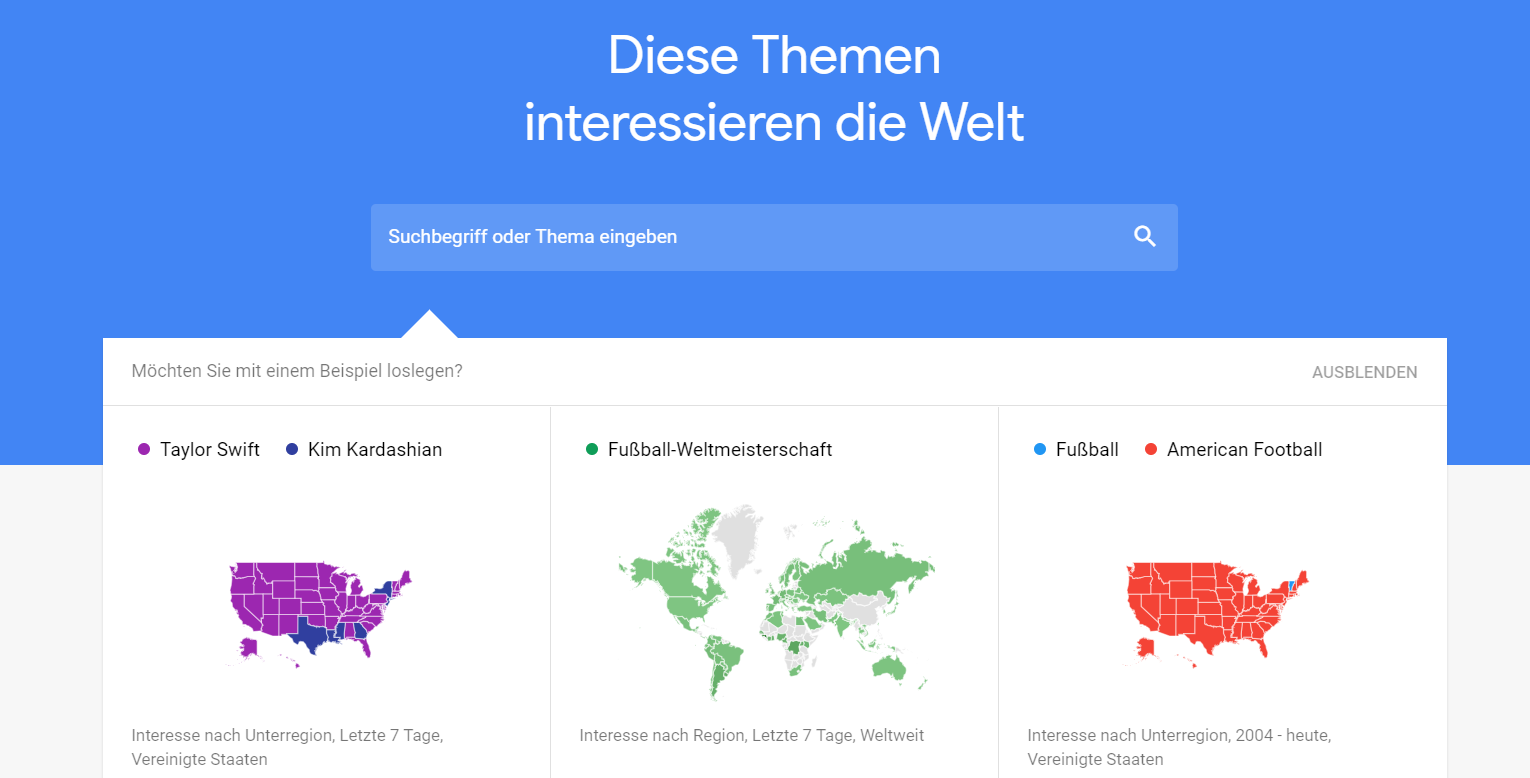 Google Trends neu