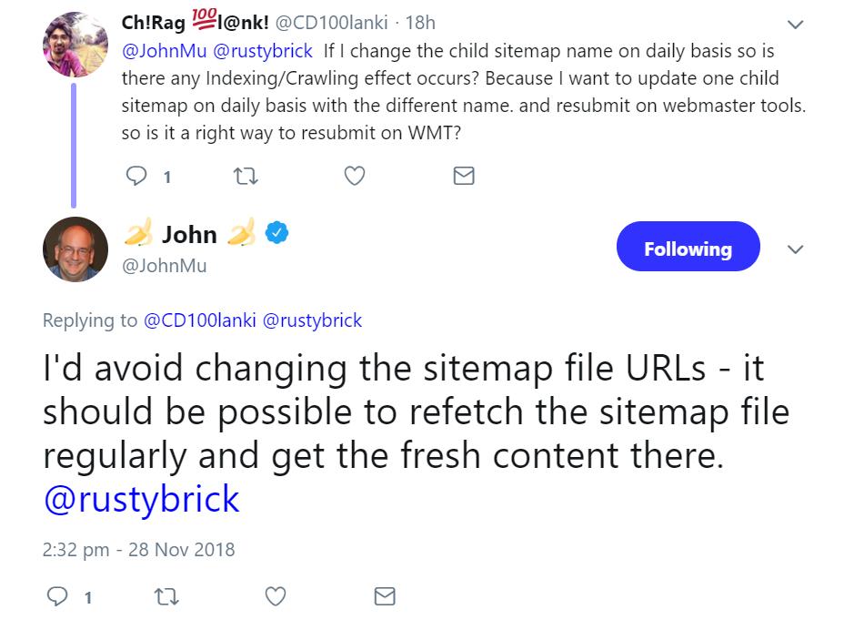 Google URL Wechsel Bei Sitemaps Vermeiden