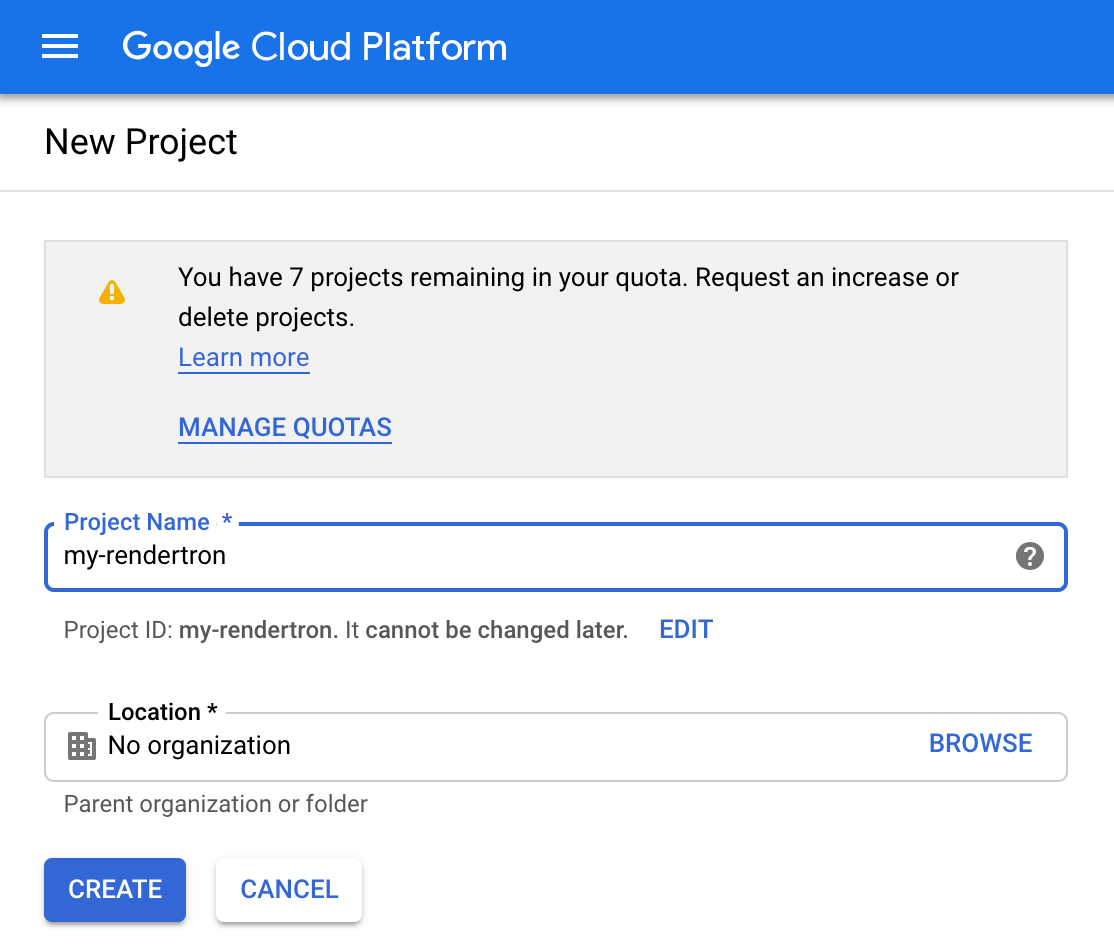 Rendertron in Google Cloud